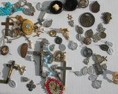 Inventory Blowout Destash Religious Medallions Crucifix Rosary Saints Medals Crosses Pins Lockets