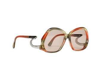 Vintage Hampel Sunglasses, drop temple glasses,  German eyewear, 70s eyeglasses, designer sunglasses, deadstock sunglasses with new lenses