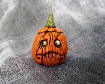 OOaK Fraidy Jack Pumpkin Halloween Sculpture