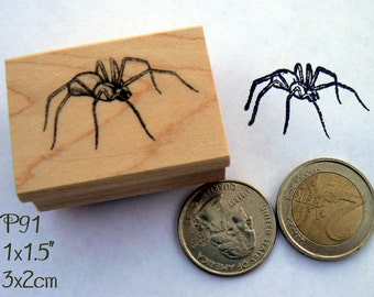 Smaller spider rubber stamp P91