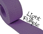 "Cotton Webbing - Light Purple - 1.25"" Medium Heavy Weight for Key Fobs, Purse Straps, Belting - SEE COUPON"