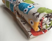 Changing pad roll up baby owl print gender neutral
