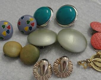 Destash Lot of Vintage Clip Earrings