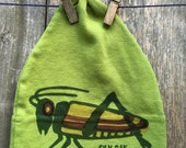 Grasshopper on Avocado Infant/Toddler Hat (Bib sold separately)