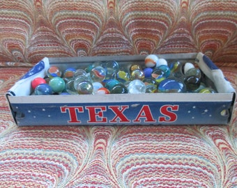 Rustic Texas License Plate Tray - Lone Star State - Storage Box - Planter - FREE SHIPPING