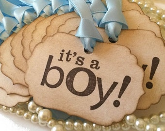 Baby Shower Tags, It's a boy, Baby Shower, Baby Shower Favors, Baby Shower Gifts, Birth Announcement, Welcome Baby, baby congratulations