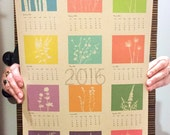 2016 Recycled Paper Floral wall calendar