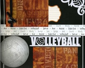 Volleyball Scrapbook Page is Premade and Photo Ready
