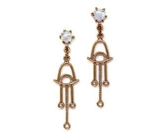 Callisto Earrings // Moonstone