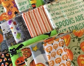 SALE Scrap Fabric, Halloween Scrap Pack of Designer Fabric, Fabric Shoppe fabrics. Best Seller! Limited quantity of these!! 1/2 LB scraps!