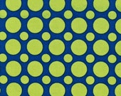 Polka Dot fabric, Blue and Green fabric, School fabric, Spot On fabric, Robert Kaufman, Multi Dot in Sapphire, Kids fabric, Choose your cut