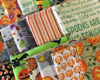 SALE Scrap Fabric, Halloween Scrap Pack of Designer Fabric, Fabric Shoppe fabrics. Best Seller! Limited quantity of these!! 1/2 LB scraps!