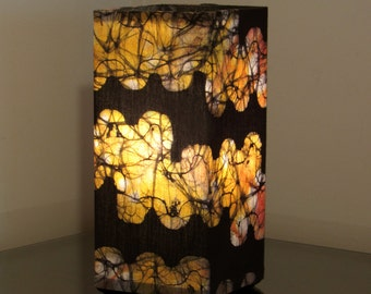 "Batik Accent Lamp ""Coral Reef"""