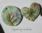Two Handcrafted Porcelain Pendants