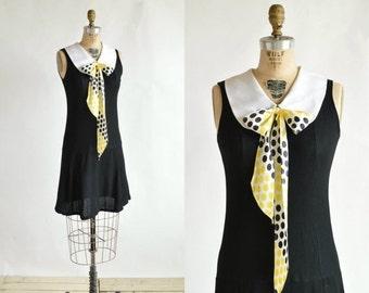 30% OFF 1960s Mod Mini Dress --- Vintage Black Dress