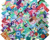 """Philip Jacobs Snow Leopard Designs GARDEN SONG Precut 5"""" Fabric Quilting Cotton Squares Charm Pack Free Spirit"""