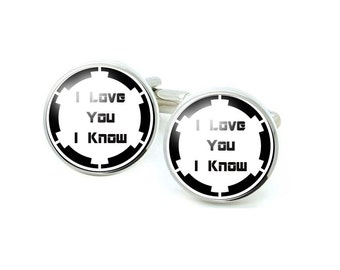 I love you I know Cufflinks, Photo Cufflinks, Gift for Men father cuff link
