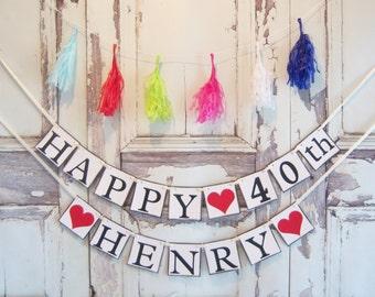 Happy Birthday banner, Happy Birthday personalized, Personalized banner, Birthday Decorations, Birthday banner,Personalized Birthday Banner