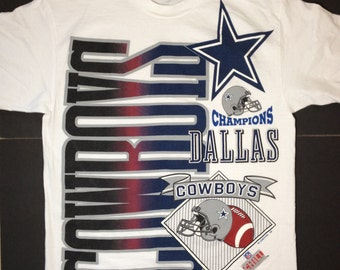 1996 Dallas Cowboys Texas Football T Shirt Large L Super Bowl USA Unworn NFL