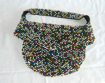 Soooo. Groovy----Beaded Handbag--------