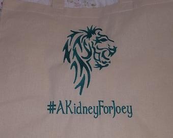 Tote Bag #AKidneyForJoey Free Shipping