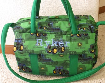 John Deere green Diaper Bag w/change pad by EMIJANE