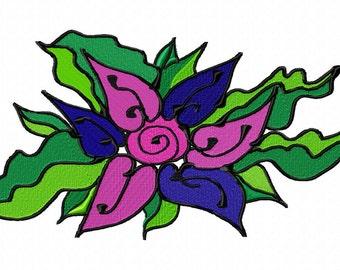 Art Flower Machine Embroidery Design...2545
