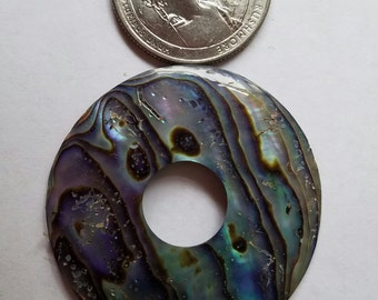 Abalone Shell Donut,  Destash Sale D-47