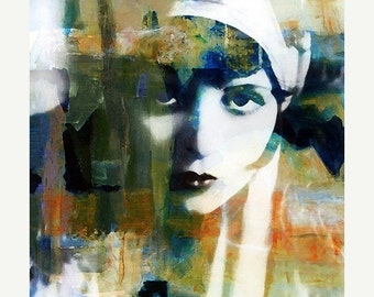 On Sale Fine Art Print, Giclee Archival Print, Photomontage, Collage, Painted Photographs, Modern Vintage Woman