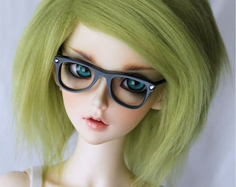 SD Doll wig Moss Green fur Monstrodesigns