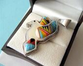 Zuni Micro-Inlay Dove Pendant