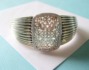 Ornate Sterling Silver Filigree Cuff