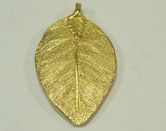 Vintage Bergere Gold Leaf Pendant /  Earring