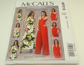 McCall's Endless Options Dress And Pantsuit Pattern MP219 Size 14-16-18 Circa 1976