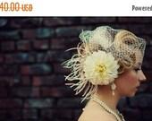 27% Off Sale Bridal Earrings Swarovski Ivory Pearl CZ  Sterling Silver Chandelier AE2