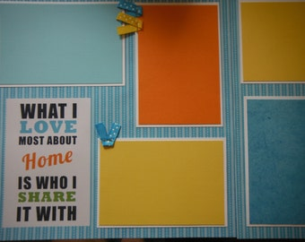 FAMILY Sayings Premade  12x12 Scrapbook Pages for your FAMILY  Boy GIRL