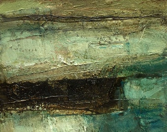 Oil Painting Abstract Original Panel Expressionism Colette Davis ROAD TRIP