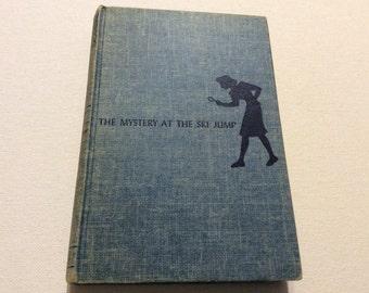 Antique/Vintage 1952 Hardback Nancy Drew Mystery The Ski Jump Hardback Book