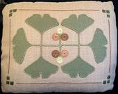 Arts and Crafts, Craftsman, Gingko Pillow Embroidery Kit
