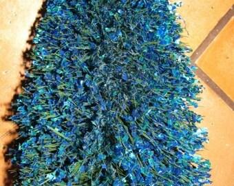 ON SALE Blue Bottle Brush Tree, Christmas Tree, Bristle Brush Christmas Tree, Wire, Sequence, Atomic Christmas Tree