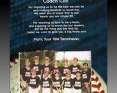 To Our (My) Number One Baseball Softball T-Ball Coach Personalized thank you Gift trophy