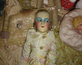 "27"" Anita Boudoir Doll Rare Pink Floss Hair"