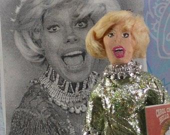 Carol Channing Doll Miniature Cabaret Singer Actress Miniature Caricature Art