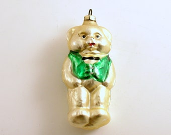 Vintage Christmas Ornament Teddy Bear Ornament Glass Ornament Christmas Decoration