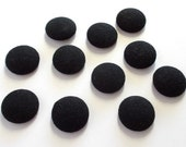 Buttons . large black wool buttons . Vintage Buttons . Button Collection . Large Buttons . 108