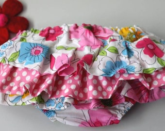 Gorgeous RUFFLED nappy cover pants sz3-6months