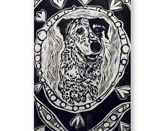Happy Dog Relief Print