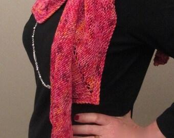 Raspberry Crumble Merino Wool Scarf