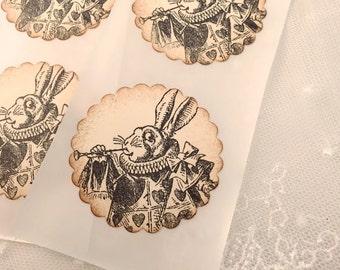 White Rabbit Stickers Alice in Wonderland