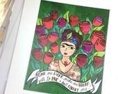 Frida Give Me Hope Print ...